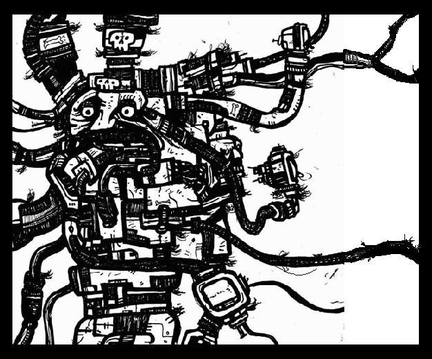 robot art,comics,drawings,monsters