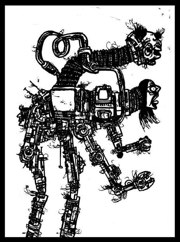 robots art,weird tales