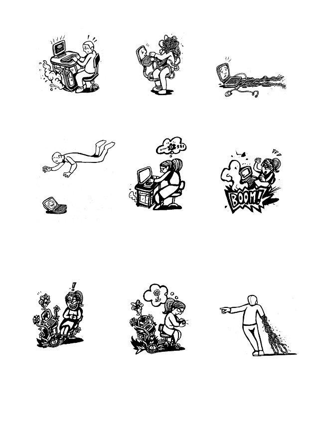 satirical comics