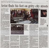 Mike Parsons, sidewalk artist, Toronto Star