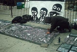 sidewalk paintings, comic book artwork