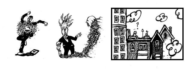 surreal comics, weird tales