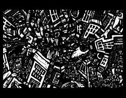 surrealism art,doodles, comic book drawings