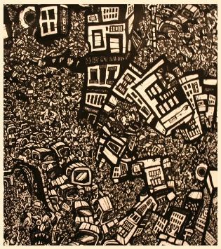 urban art, comic book drawings