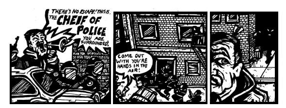 police comics, free comics online, weird stories, weird drawings,monster drawings